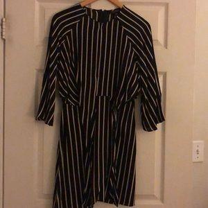 Topshop black and white mini dress